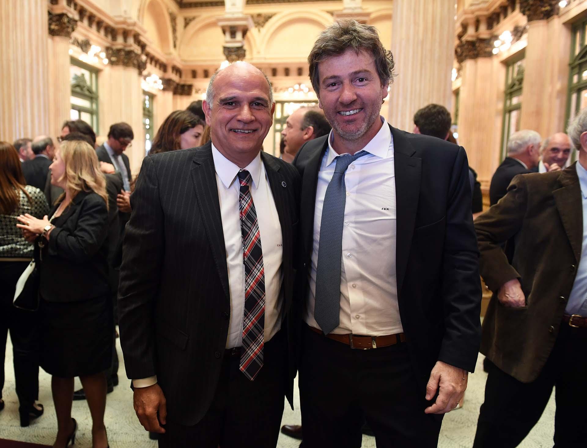El fiscal federal Carlos Rívolo y Juan Baustista Mahiques.