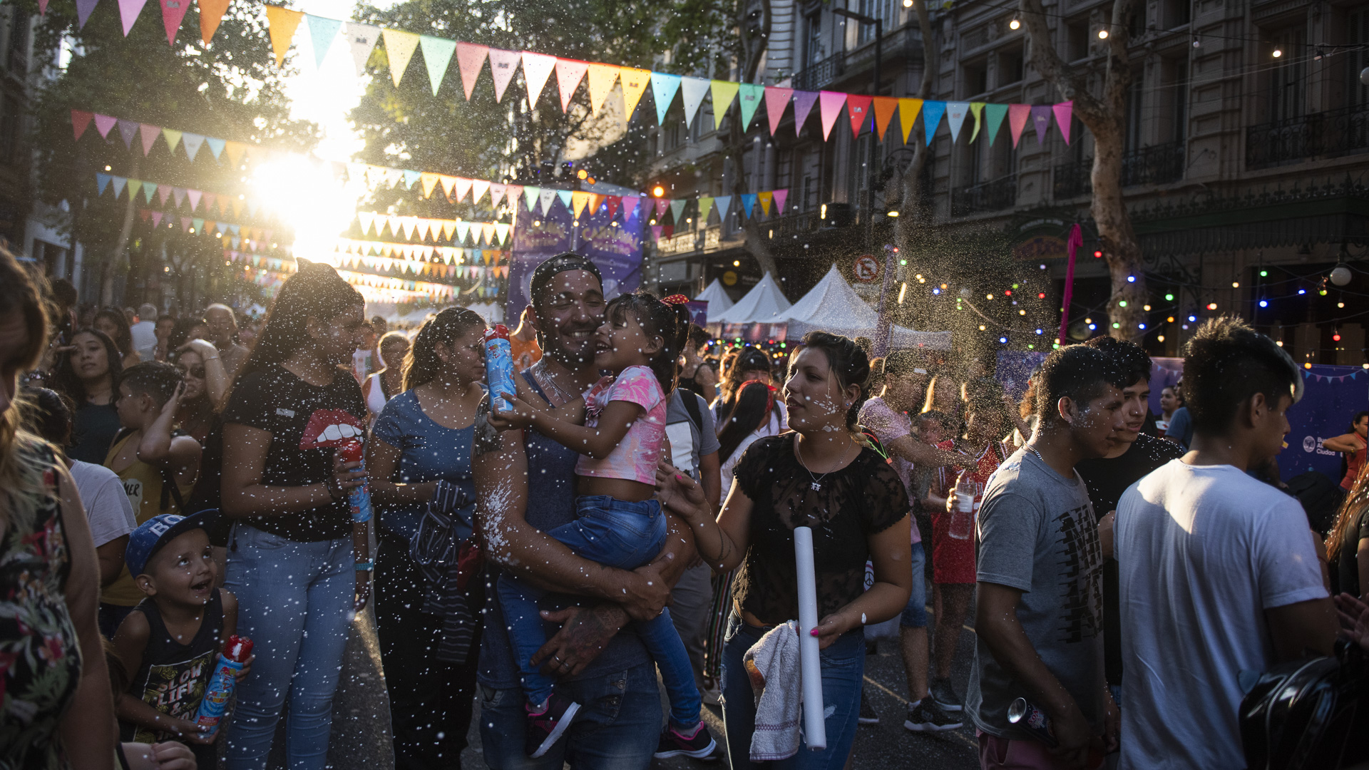 Las familias disfrutaron del feriado y participaron del evento organizado por la el Gobierno de la Ciudad de Buenos Aires