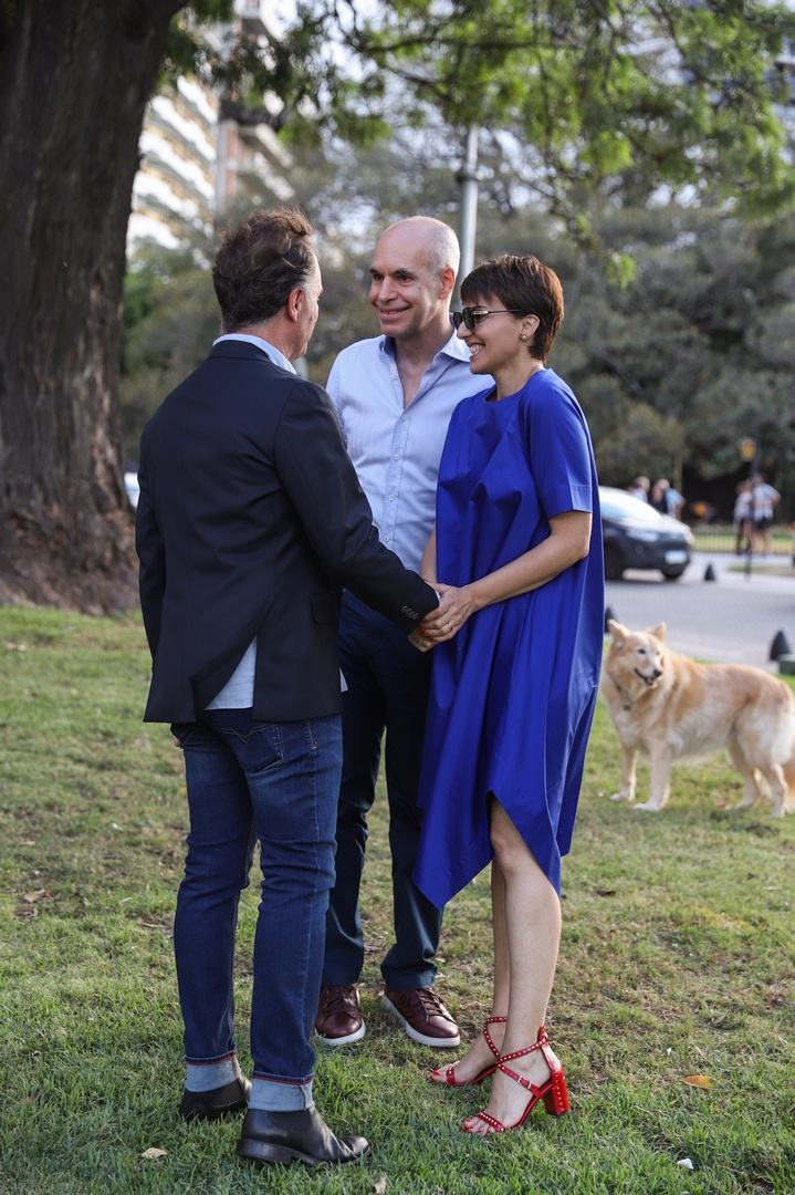 Horacio Rodríguez Larreta, Bárbara Diez y Pablo Reinoso