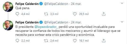 Felipe Calderón Twitts (Foto: Tiwtter@FelipeCalderon)