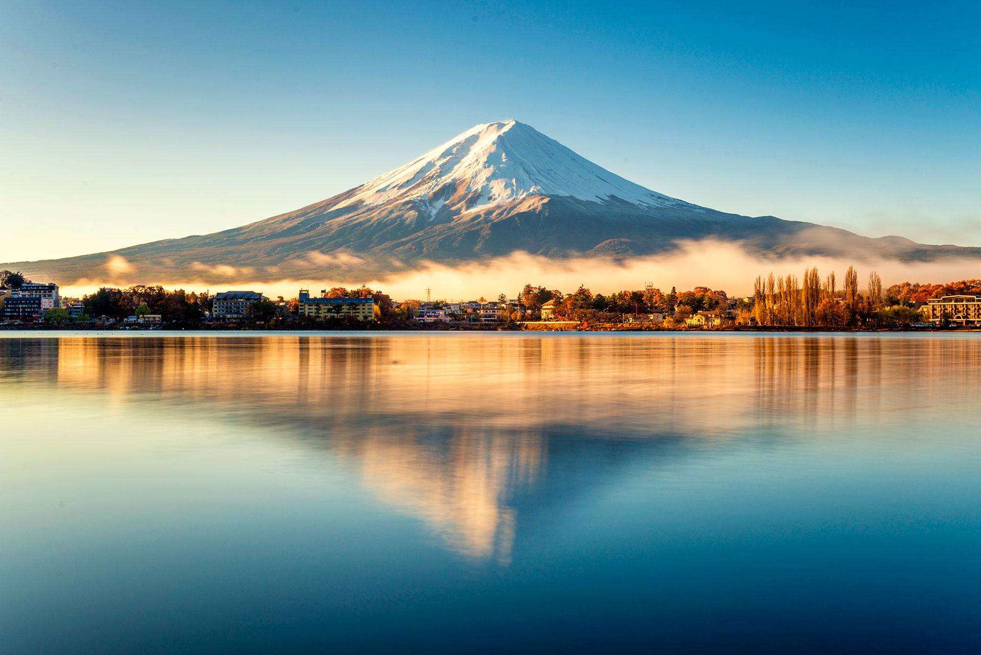 Por momentos, desde Tokio se puede observar el Monte Fuji en un día despejado