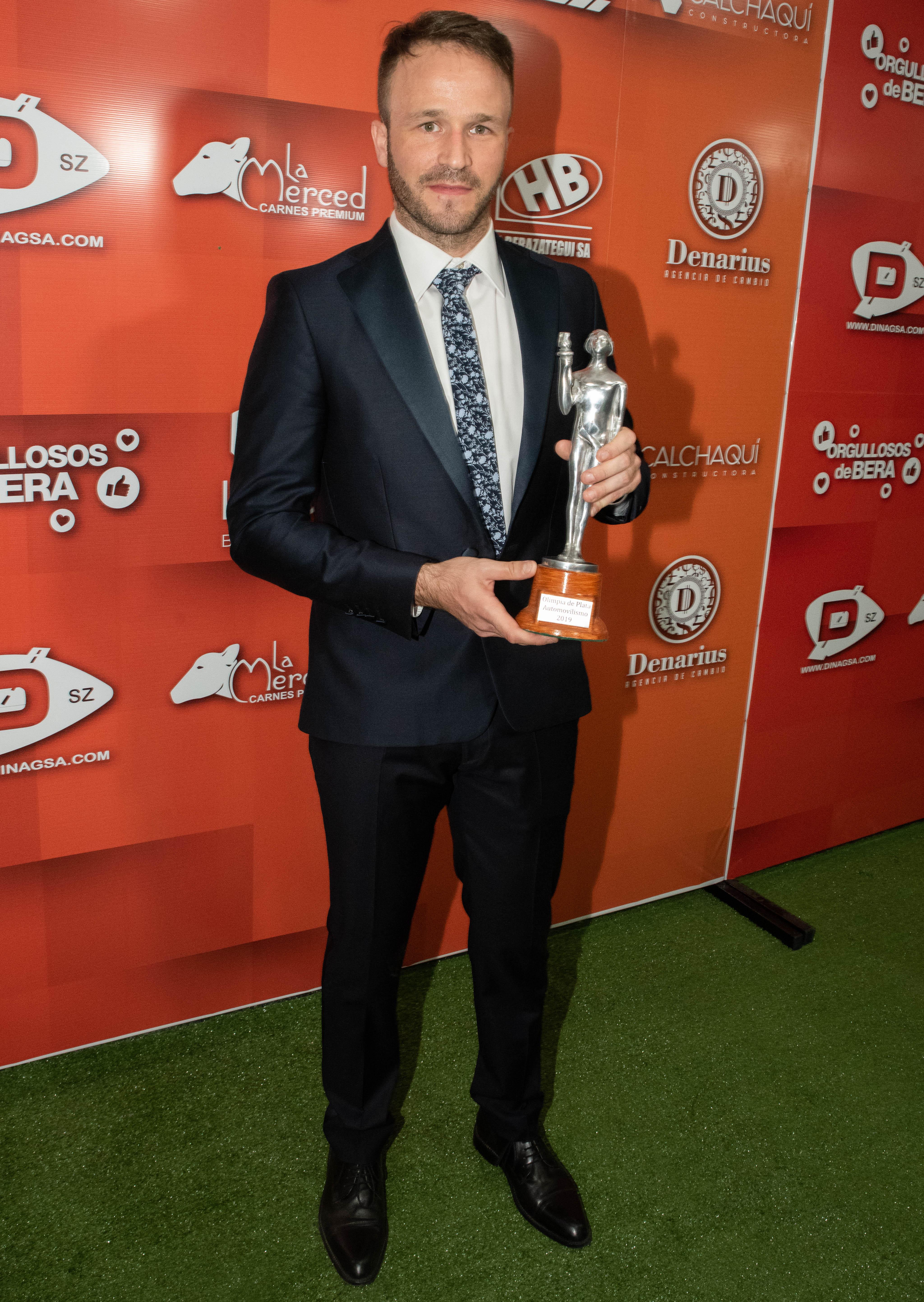 Agustín Canapino, el ganador en la categoría Automovilismo.