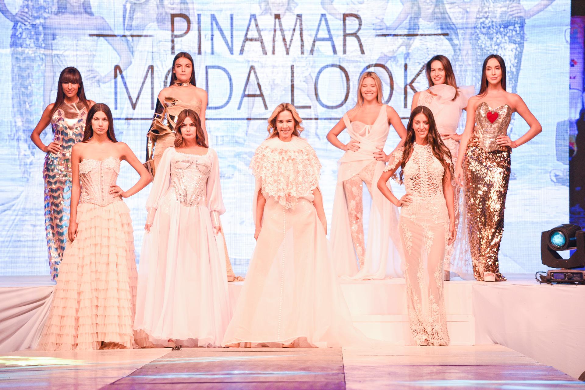 Los diseños de Verónica de la Canal. A puro brillo, corsetería, sedas y encajes en la noche de Pinamar Moda Look
