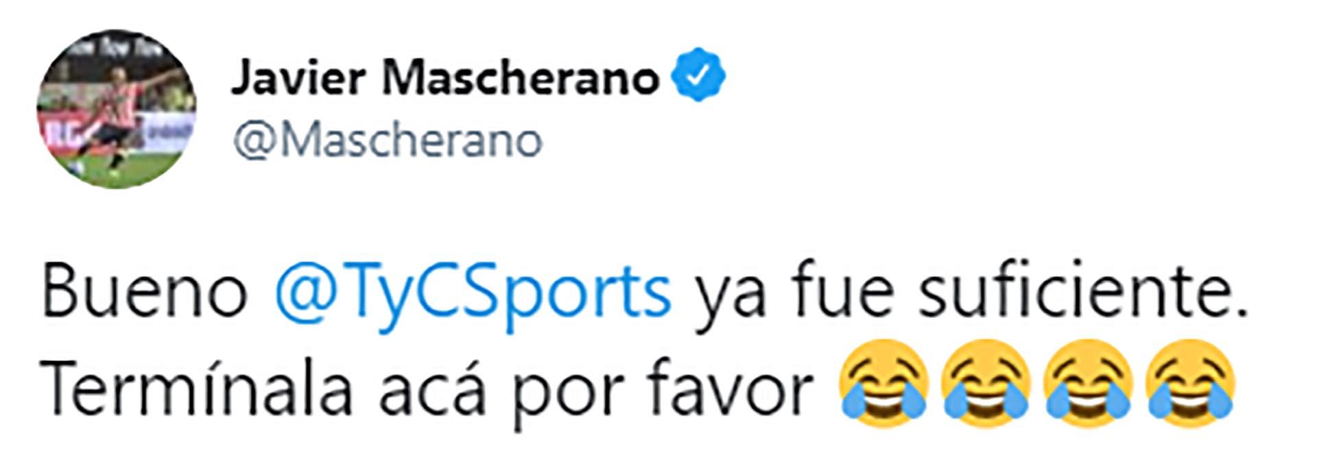 Twitter @Mascherano
