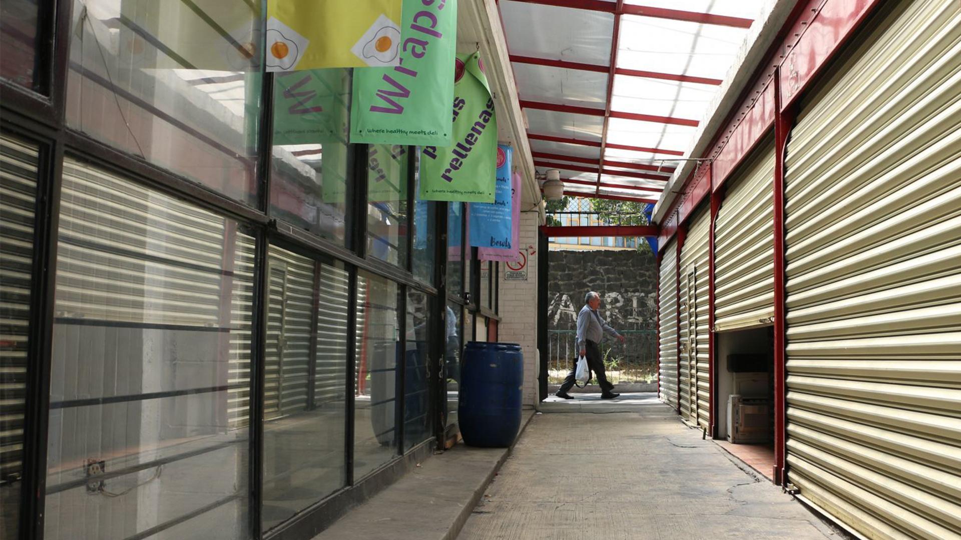 Prestadores de servicios y comerciantes suspendieron actividades por el paro nacional (Foto: Cuartoscuro)