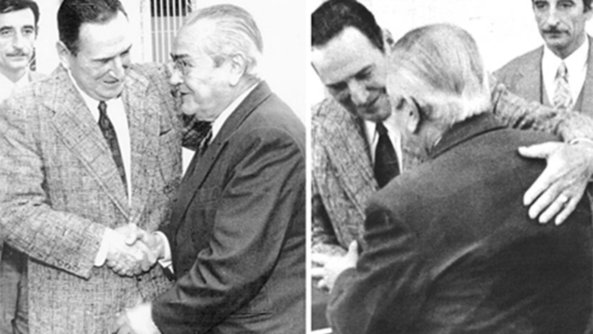 El abrazo de Perón y Balbín: la historia secreta de la ...