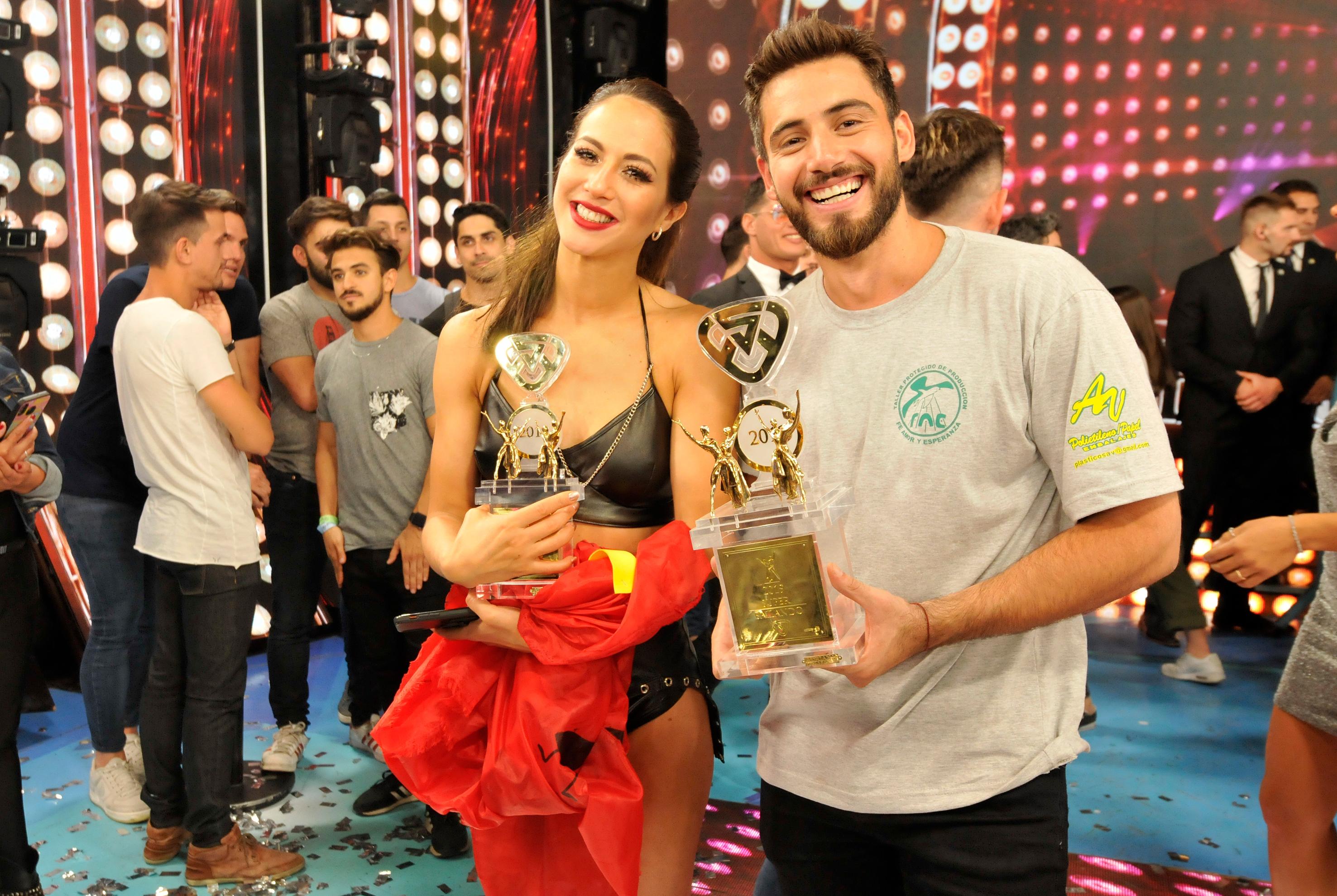 Nico Occhiato y Flor Vigna, el campeón y la subcampeona del
