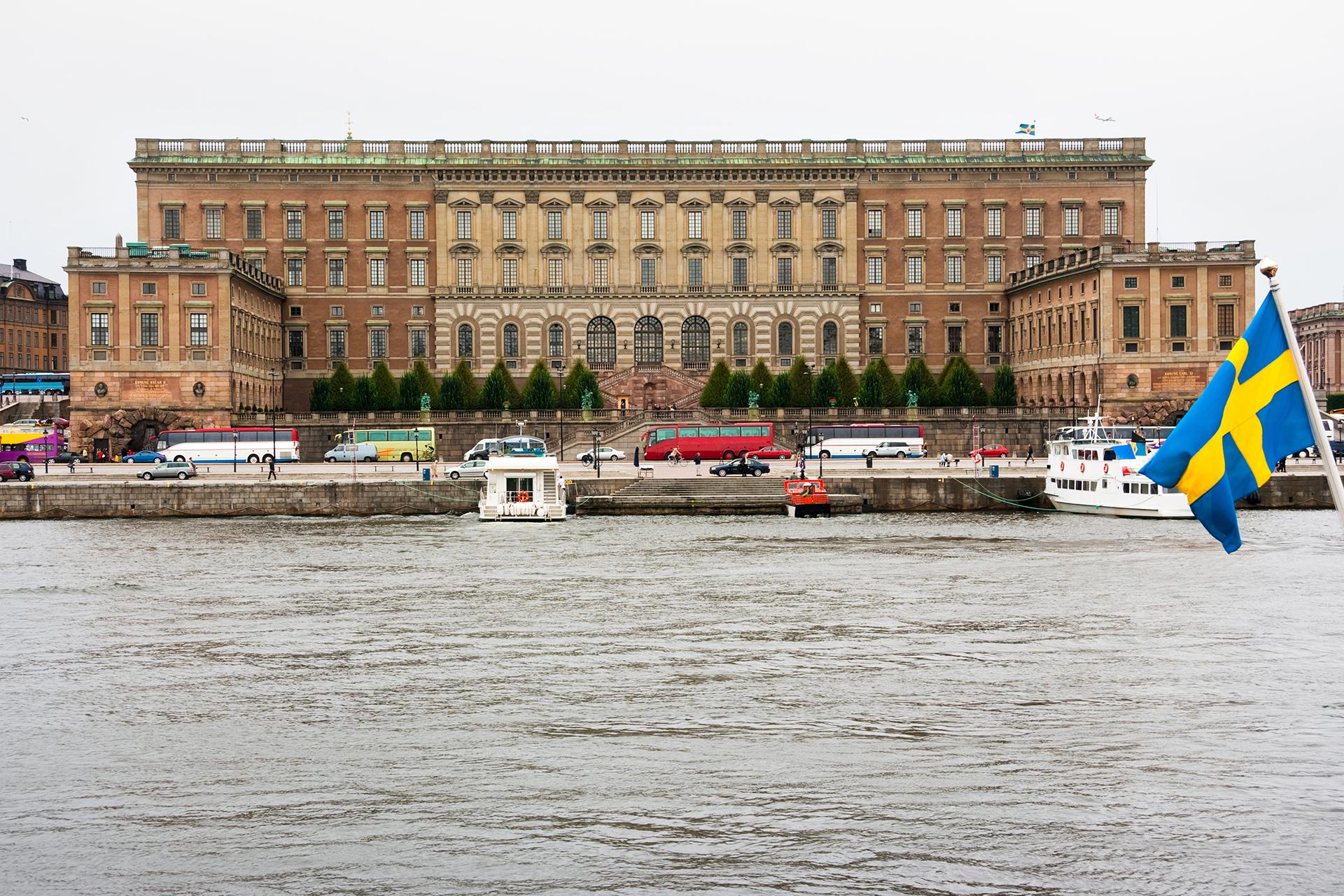 El Palacio Real de Estocolmo (o Slottet, en sueco) es el principal edificio representativo de la monarquía sueca