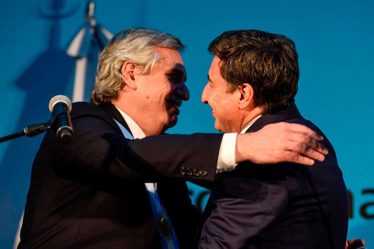 El presidente Alberto Fernández y el ministro de Desarrollo Social Daniel Arroyo