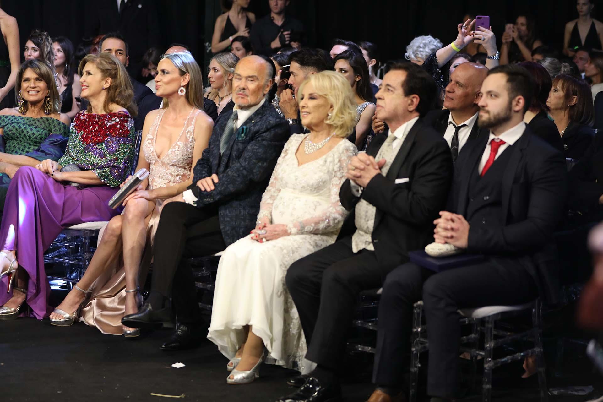 El front row de la noche: Mirtha no se perdió detalle de toda la ceremonia junto a Héctor Vidal Rivas
