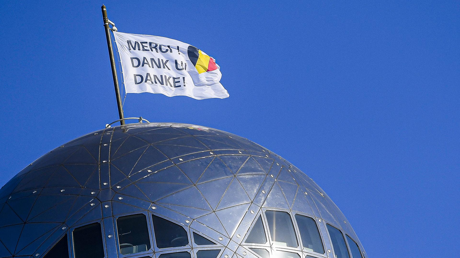 El monumento Atomium en Bruselas. (LAURIE DIEFFEMBACQ / Belga / AFP)