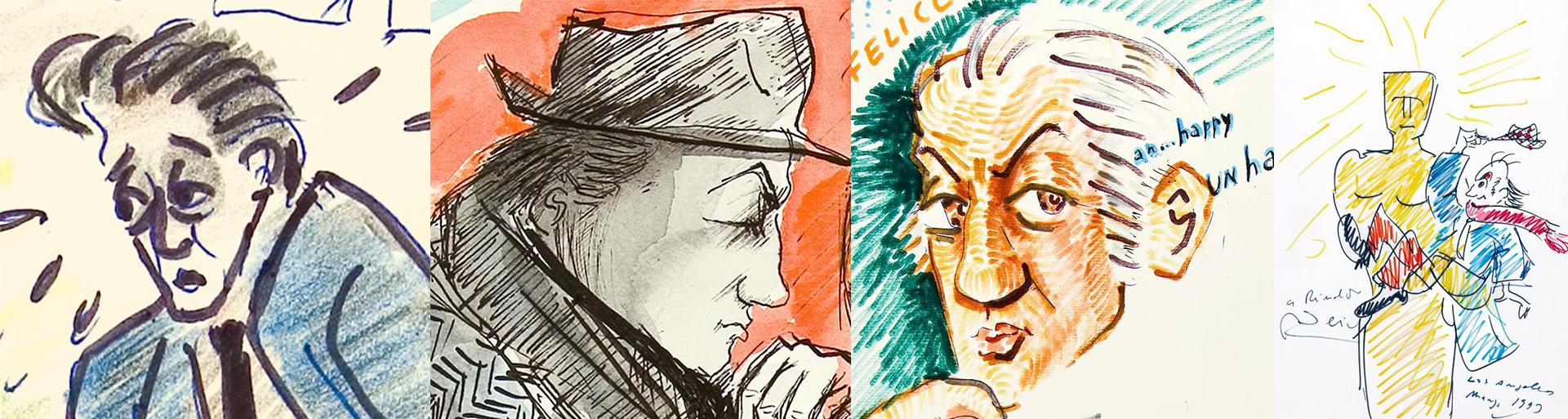 Autorretratos: 1961, 1974, 1977 y 1993, con el Oscar honorífico