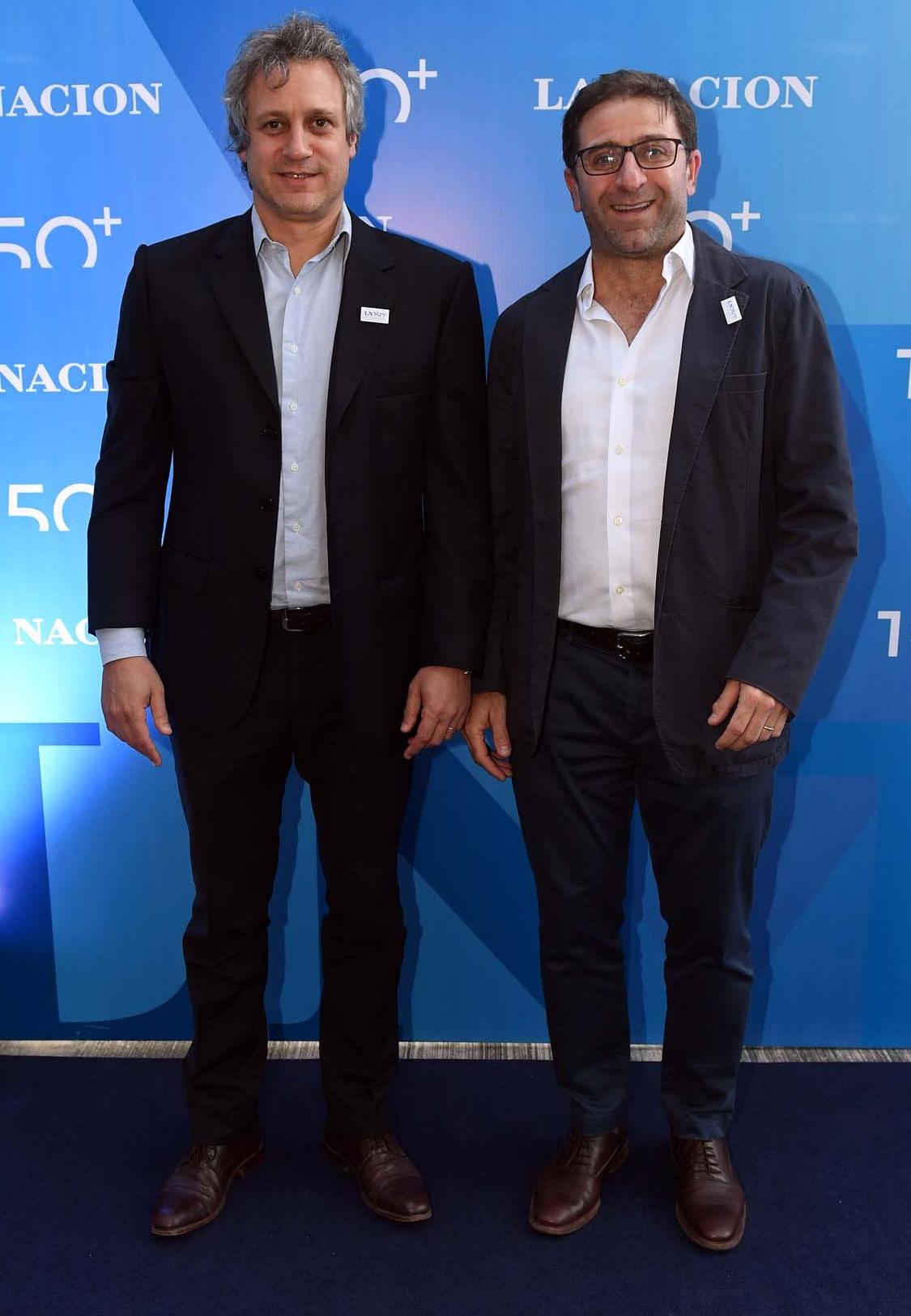 El jefe de Gabinete porteño, Felipe Miguel, y Fernando Straface, secretario General porteño