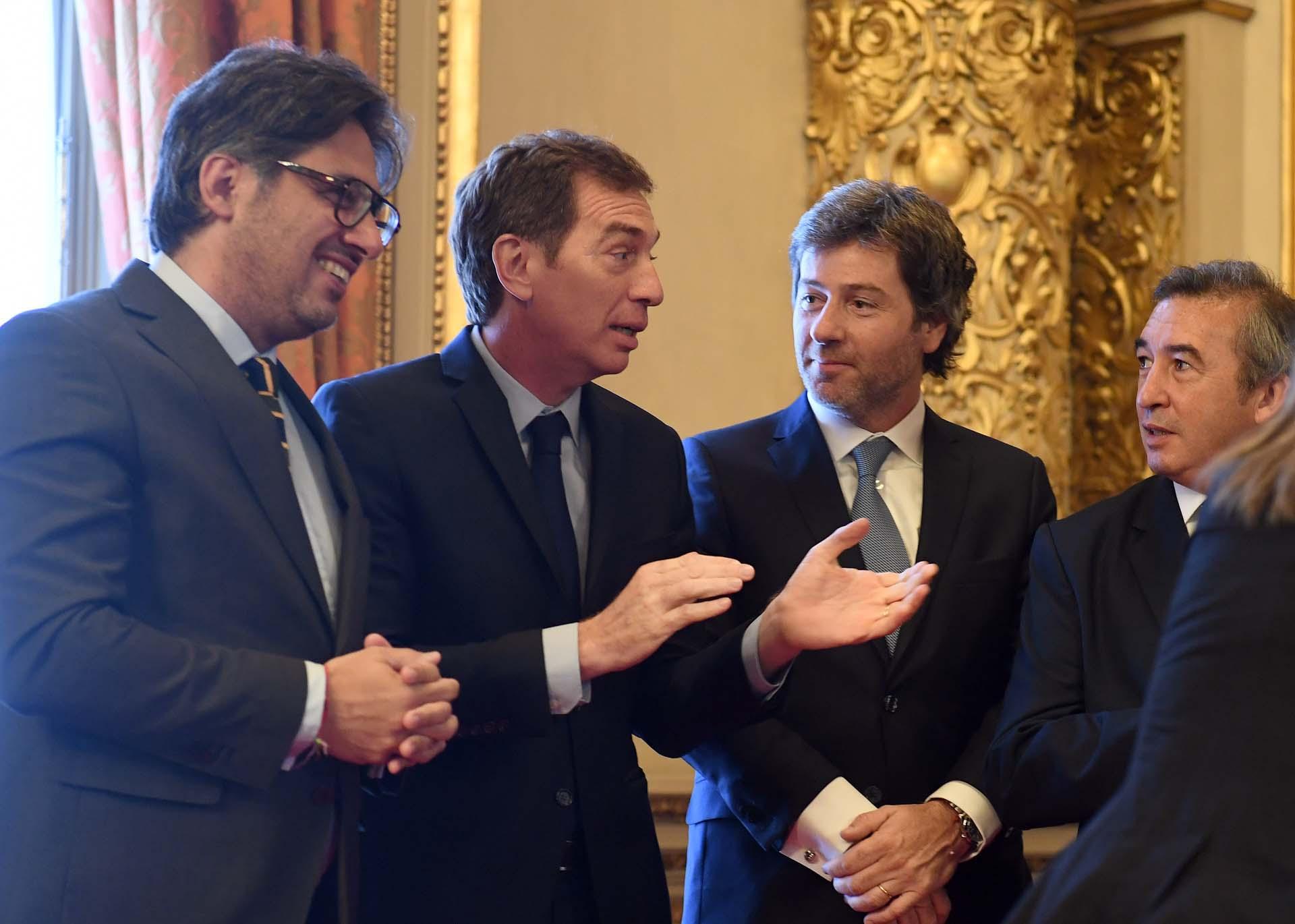 Germán Garavano, Diego Santilli, Juan Mahiques y Santiago Otamendi.