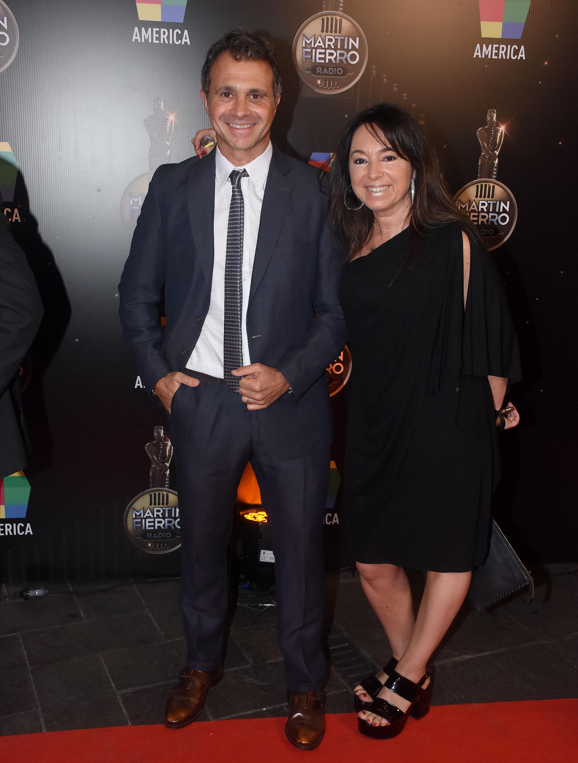 Sergio Lapegüe y su mujer,