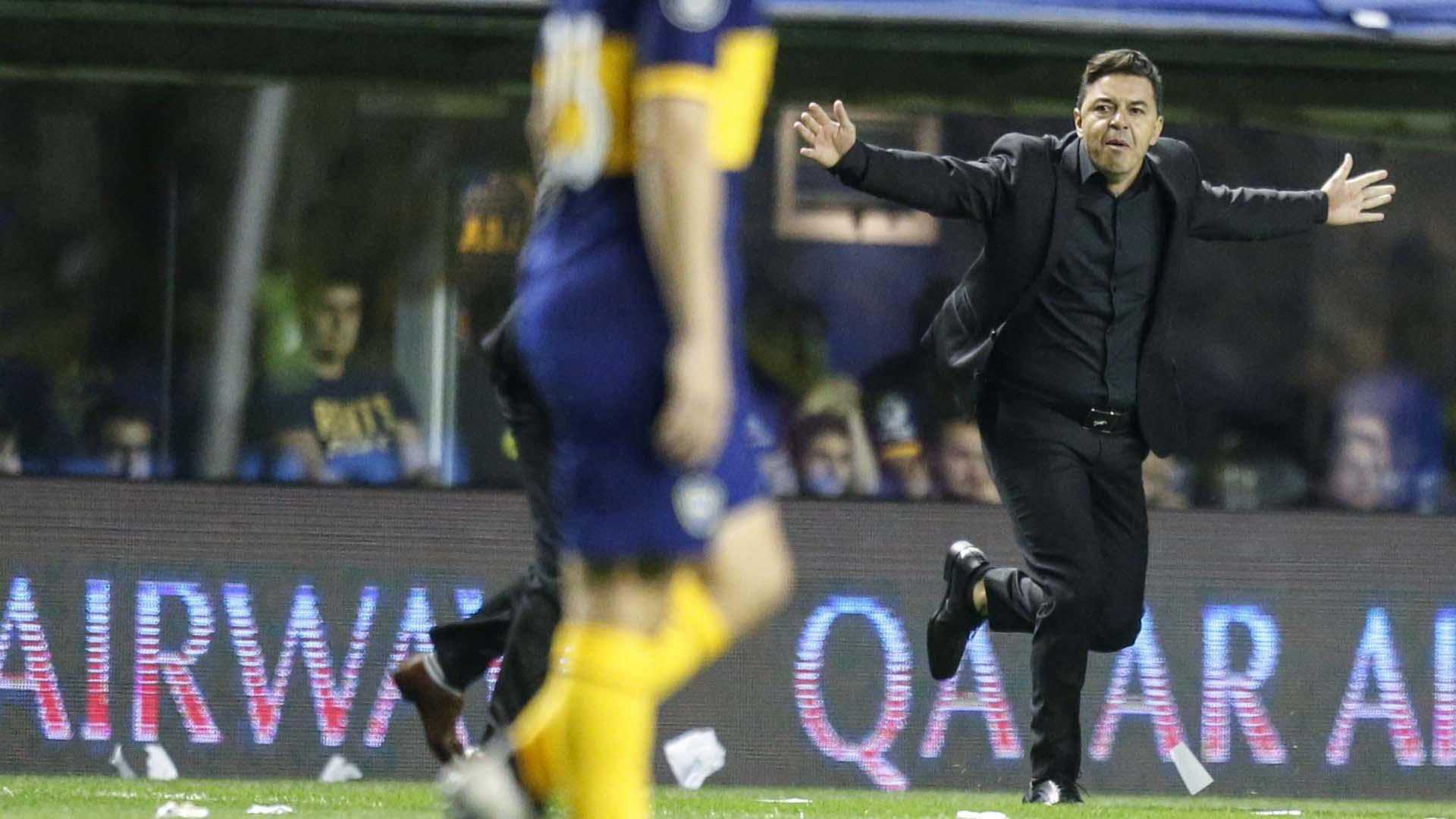 Marcelo Gallardo festejó una nueva eliminación a Boca