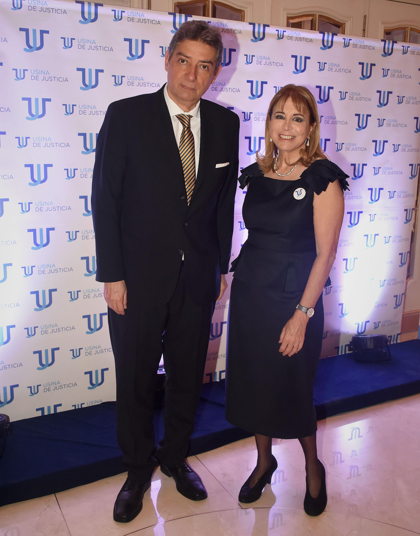 El juez de la Corte Suprema, Horacio Rosatti y Diana Cohen Agrest