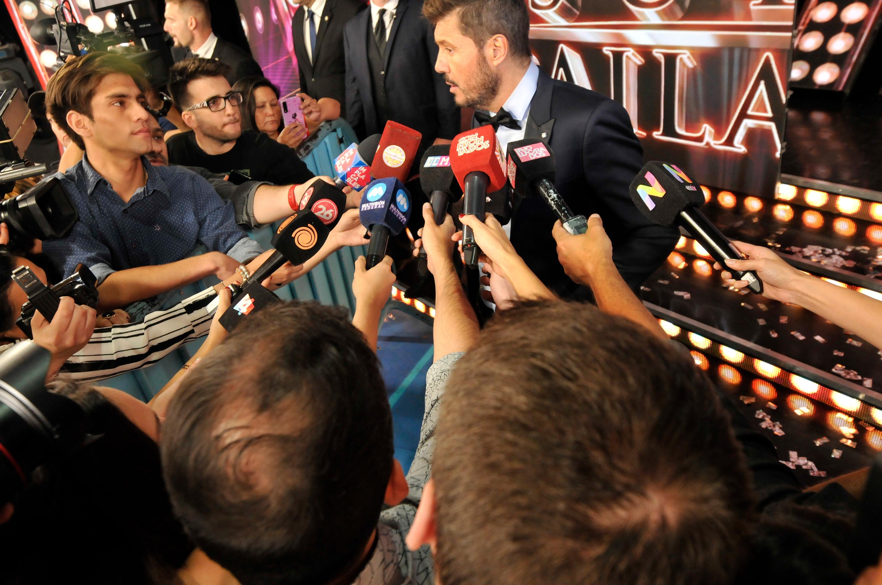 Marcelo Tinelli habló con la prensa tras terminar el programa
